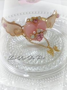 Heart with wings ring