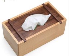 1pcs/lot fashion rustic rectangle wooden tissue box household creative wood tissue bucket