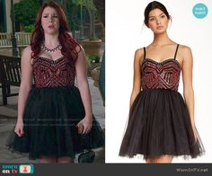 Tamara's black and red studded prom dress on Awkward.  Outfit Details: http://wornontv.net/53333/ #Awkward