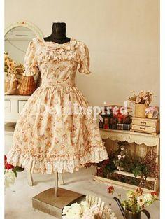 Gorgeous Printed Bow Rococo Lolita Dress