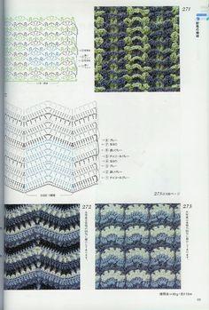 Crochet Patterns Book 300 - 新 - Веб-альбомы Picasa Crochet Cable, Crochet Chart, Crochet Diagram, Crochet Patterns, Crochet Books, Pattern Books, Knitting Stitches, Hand Stitching, Blanket Stitch