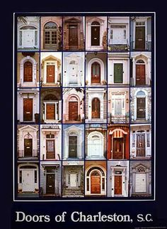 Doors of Charleston..we love taking pictures of the doors and windows and window boxes