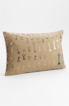 For Lisa-'Secret Key' Pillow Cover Taupe Elmwood One Size / Nordstrom at Home Antique Keys, Key To My Heart, My Room, Dorm Room, Home Accents, My Dream Home, Decoration, Home Accessories, Decorative Pillows