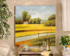 Add serenity to your kitchen with the Serenity in the Country Canvas Print #kirklands #cookininstyle #print #country