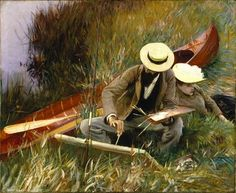John Singer Sargent (American expatriate artist, 1856-1925) An Out Of Doors Study 1889