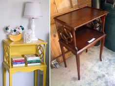 Recycled yellow table