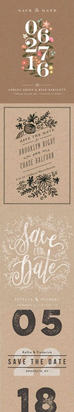 Find the perfect Save the Date cards for your upcoming wedding from Minted's unique designs.