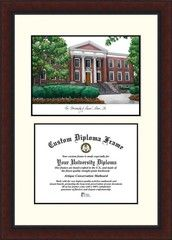 University of Akron Zips Diploma Frame Lithograph Legacy Series