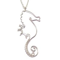 Wire Seahorse Necklace | Kian Designs Handmade Jewellery £25.00