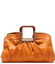 Camel Tote Leather Satchel Handbag