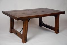 Get exclusive handmade Antique farm tables and other solid wood accessories. Rustic Table, Farmhouse Table, Dining Room Table, Craftsman, Solid Wood, Farm Tables, Antiques, House Styles, Furniture Ideas