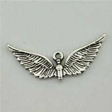 Envío gratis 30 unids plata antigua encantos del ángel ala para la joyería charm artesanal DIY 39 * 18 mm(China (Mainland))