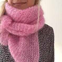 Un chèche tout doux tout doux – Tuto tricot réalisé en partenariat avec La légende du Mohair – Le blog de Caro Tricote