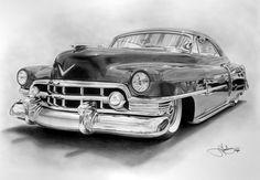 1950 Cadillac drawing by Portraitz.deviantart.com on @deviantART