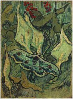 Vincent van Gogh: Great Peacock Moth, 1889.