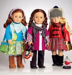 """18 pouces poupée Vêtements tendance, 18"""" modèle de vêtements de poupée, 18 dans poupée vêtements spéciaux, couture patron 7006 de McCall"""
