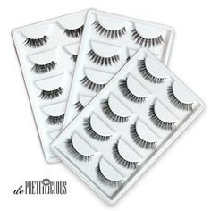 de Prettilicious Different style) Natural False Eyelashes Set. CHRISTMAS SALE NOW! Best gift for her, perfect for Thanksgiving and Christmas presents. ** Be sure to check out this awesome product. Natural False Eyelashes, Fake Eyelashes, Wax Bath, Eyelash Sets, House Of Lashes, Best Gifts For Her, My Makeup Collection, Christmas Presents, Christmas Sale