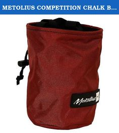 METOLIUS COMPETITION CHALK BAG - O/S - ASSORTED. Whenever you're climbing, judged or not, the last thing you need is slick hands, so keep well-chalked when you carry Metolius's Competition Chalk Bag. You won't have to struggle to reach your chalk when you reach in around its stiff rim that stays open as you climb, nor will you lose your chalk once you tighten the drawstring.