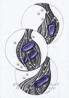 """""""Perlen und Steine"""" - rechts - Galerie der anderen Art Aue"""