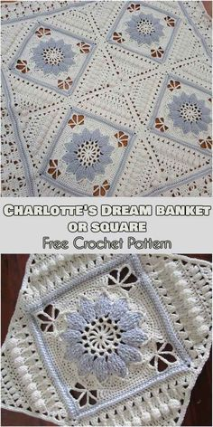 Charlotte Dream Blanket or Square [Free Crochet Pattern] #crochet #lovecrochet #freepattern #crochetsquares #sewingblankets