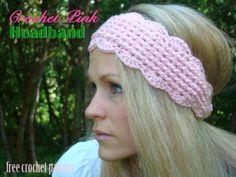Free Crochet Pattern - Pink Headband!