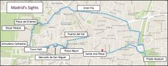 A Self-Guided Walking Tour to Sights in Madrid Map