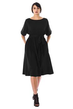 d61820de31605 I <3 this Dolman sleeve cotton knit blouson dress from eShakti Spandex  Dress,