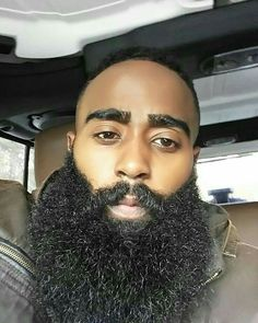 beard still big tho by beardoblack I Love Beards, Black Men Beards, Awesome Beards, Long Beards, Fine Black Men, Gorgeous Black Men, Handsome Black Men, Beautiful Men, Beard Game