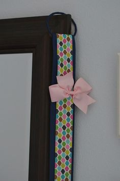 Girls Hair Bow HolderHair Bow Holder Hair Clip Organizer Girls Decorative Accessory Wall Hanging Baby Shower Gift Blue Color Pattern – Flutter Bunny Boutique, LLC