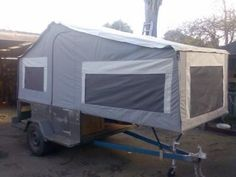 53 Beautiful Diy Camper Trailer Design, A concession trailer is going to be asked to stick to the exact same rules as a conventional brick and mortar storefront. Various trailers have variou. Tent Trailer Camping, Pop Up Tent Trailer, Truck Tent, Off Road Camper Trailer, Trailer Diy, Jeep Camping, Tent Campers, Camper Caravan, Camper Life