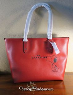 Coach X Snoopy Peanuts Red City Zip Tote Limited Edition Sold Out NWT F37273 #Coach #TotesShoppers