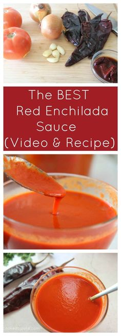 Red Enchilada Sauce (Video Recipe) - Cooked by Julie Recipes With Enchilada Sauce, Homemade Enchilada Sauce, Red Enchilada Sauce, Sauce Recipes, Yummy Recipes, Chicken Recipes, Mexican Cooking, Mexican Food Recipes, Mexican Meals