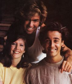 """during recording sessions in Chateau Minerval (france) for """"Make it big"""" album with an english fan Debbie Jones. George Michael Music, Michael Love, Beautiful Voice, Beautiful Men, Debbie Jones, Andrew Ridgeley, Tv Show Music, Record Producer, Music Is Life"""