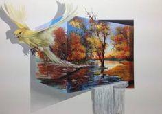 "Saatchi Art Artist Eka Peradze; Painting, ""freedom. #6- 3D  50x70"" #art"