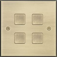 Interrupteur bouton poussoir / double / quadruple / en laiton HOPE : LAITON BROSSE Atelier Luxus