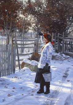 'Chore Time' by Valoy Eaton <> (winter season, art)