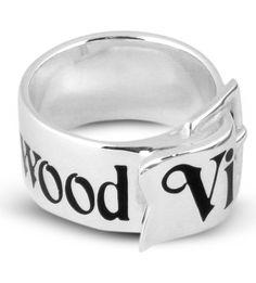 VIVIENNE WESTWOOD Sterling silver belt ring