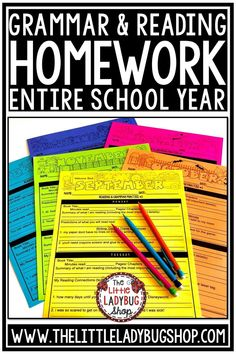 Grow your students with this Reading and Grammar Packet for Daily work and Homework. These are perfect for your 3rd Grade, 4th Grade and 5th Grade students and home school classrooms! It is to help students show comprehension in their daily reading. #readinglogforhomework #dailygrammarpractice #grammarhomework #revisingandediting #readinglogs #elahomework #teksresources
