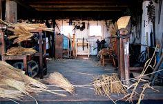 broom workshop, slate run farm, ohio.