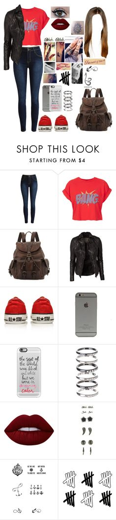 """""""Untitled #611"""" by skh-siera18 ❤ liked on Polyvore featuring Topshop, Frye, MuuBaa, Converse, Casetify, M.N.G, Lime Crime, Tattify and Disney"""