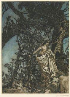 Arthur Ransome illustration of A Midsummer Night's dream