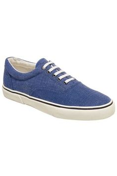 Blue Washed Canvas Pump