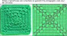 graficos de croche para colchas | LINDOS PARA HACER COLCHAS , MANTAS , COMO LO HACIA LA ABUELA