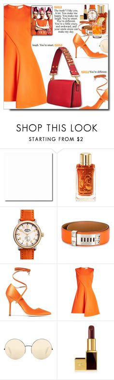 """Yes Girls...125th set...I am still the Style Icon "" by dragananovcic ❤ liked on Polyvore featuring Lancôme, Shinola, Hermès, Vetements, Victoria Beckham and Tom Ford"