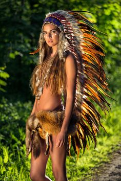 IN STOCK! Because Orange it HOT°! SHOP the Indian Headdress online at http://indianheaddress.com/