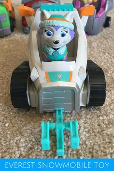 """Paw Patrol Everest Snowmobile Toy - """"Ice or snow, I'm ready to go!"""""""