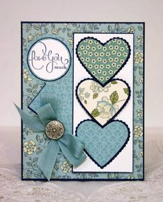 "Pretty Blue Valentine ""Love You Much"" Card...sleepyinseattle-Cards and Papers at Splitcoaststampers."