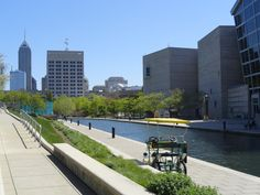 The canal is beautiful in the Spring/Summer.
