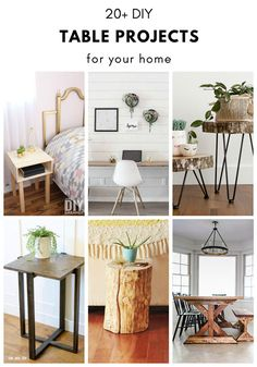 Over 20 DIY Table Projects for your home. DIY tables for various skill levels ranging from dining tables, coffee tables, side tables, and more. Garden Coffee Table, Diy Coffee Table, Diy Table, Diy Furniture Building, Home Furniture, Dining Tables, Side Tables, Decorating Your Home, Diy Home Decor