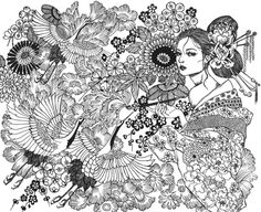 moon blossoms coloring book - Google Search